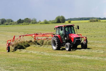 Raking hay while the sun still shines