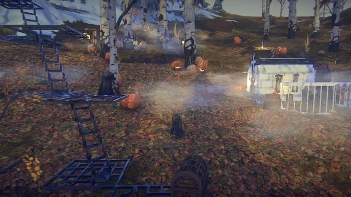 halloween crypt