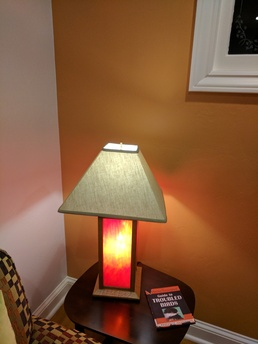 Craftsman Table Lamp with Stained Glass