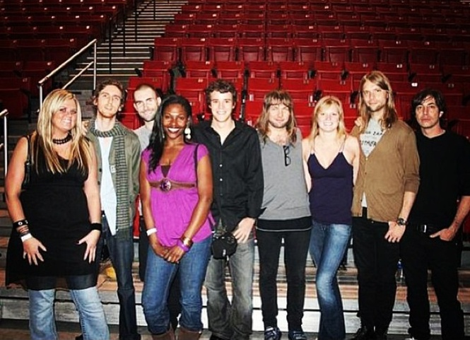 Maroon 5 meet and greet with the bestie m4hsunfo
